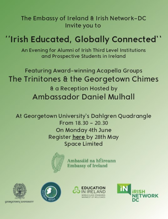 Invite to Irish Educated, Globally Connected 4th June 2018