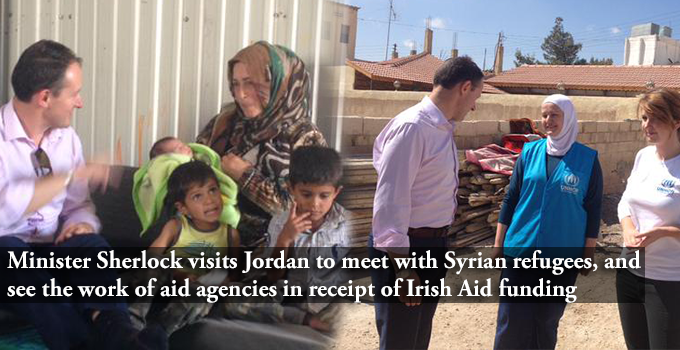 Minister Sherlock visits Jordan to meet with Syrian refugees, and see the work of aid agencies in receipt of Irish Aid funding