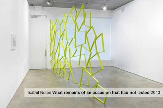 Isabel Nolan: What remains of an occasion that had not lasted (2013)
