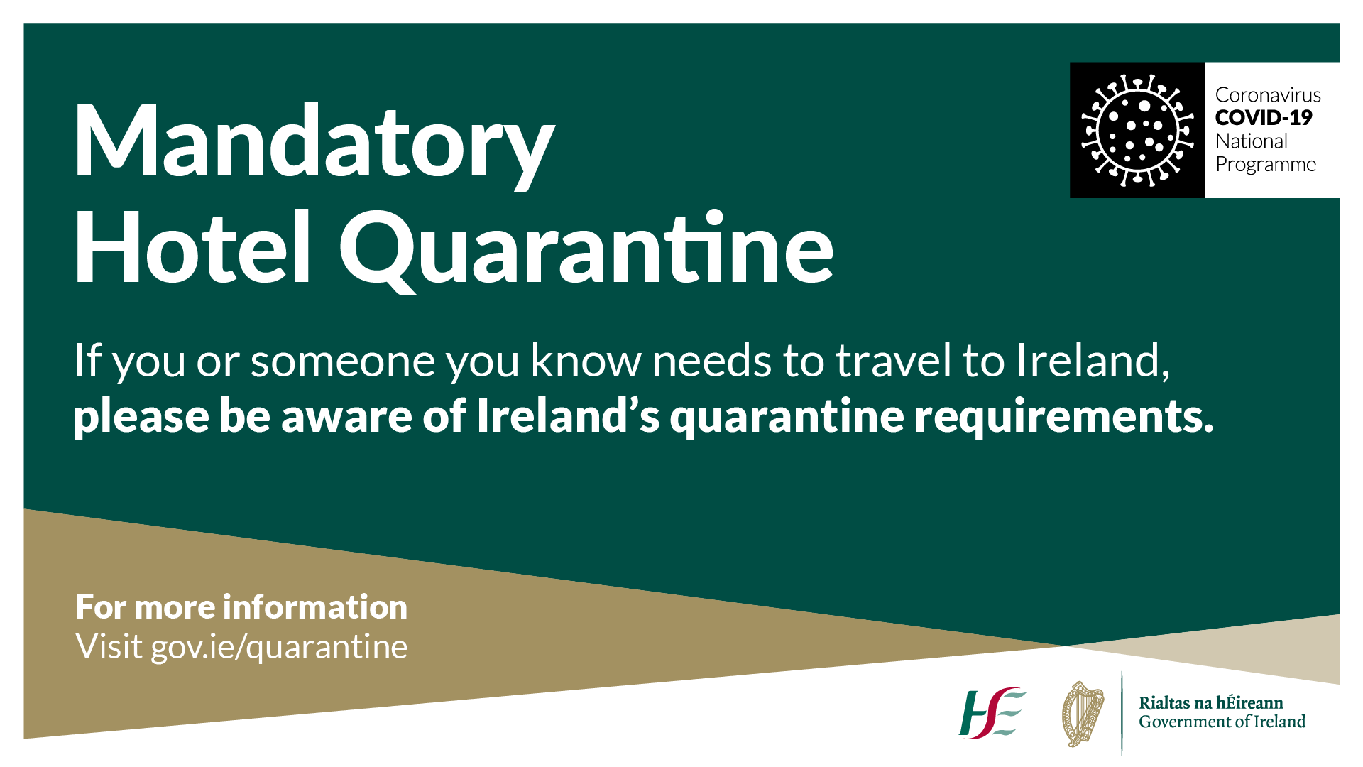 Mandatory Hotel Quarantine (MHQ) for travellers from high-risk countries