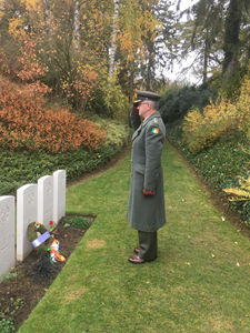 Colonel Des Bergin at Saint Symphorien military cemetery.