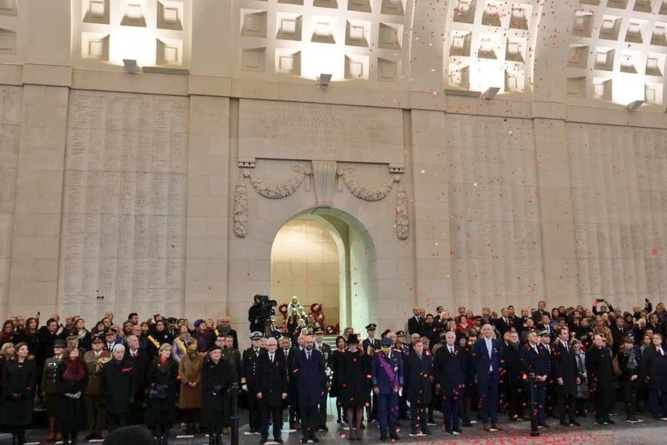 Dignitaries pictured at the Menin Gate commemoration ceremony which took place in November 2018.