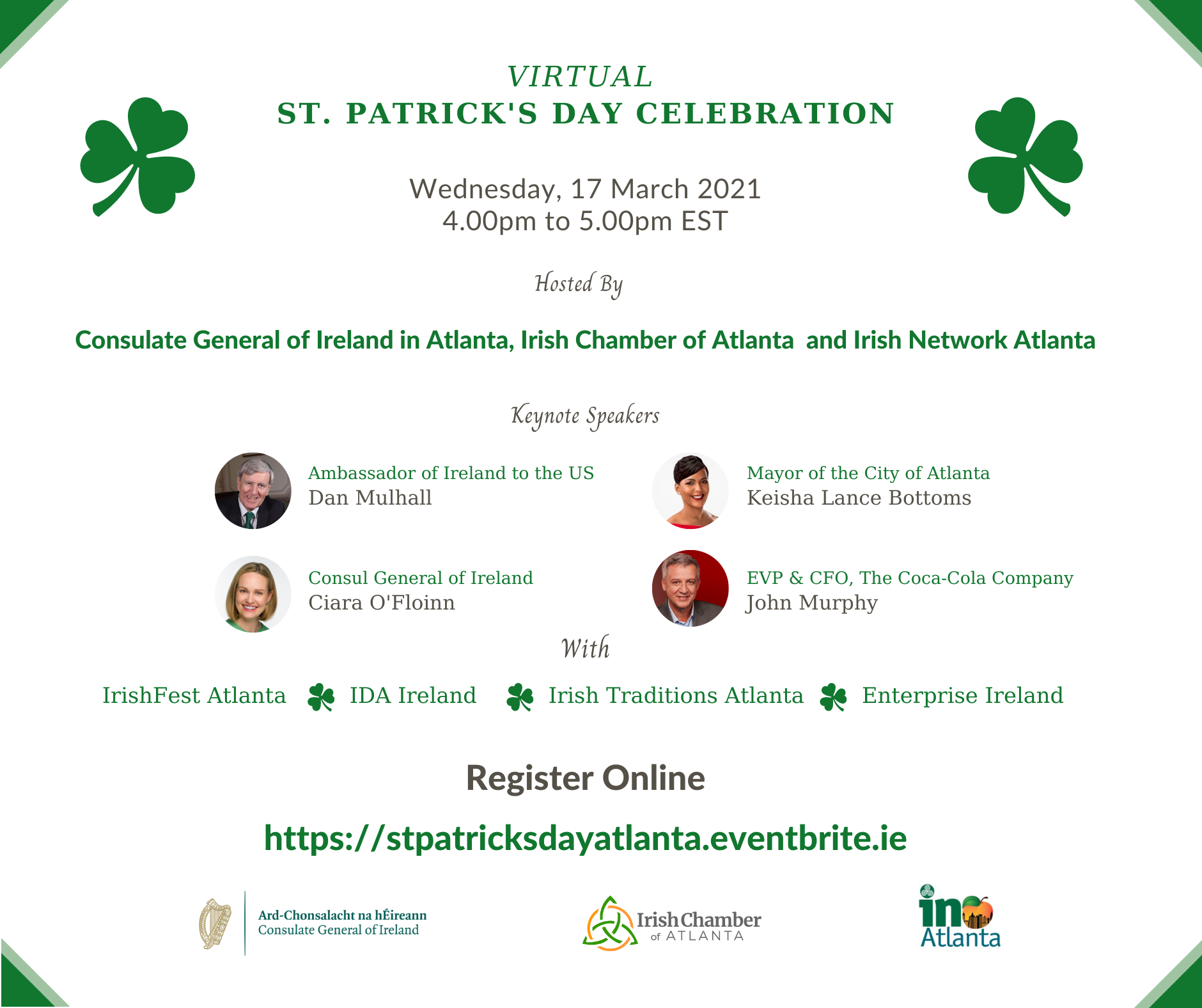St. Patrick's Day Virtual Celebration