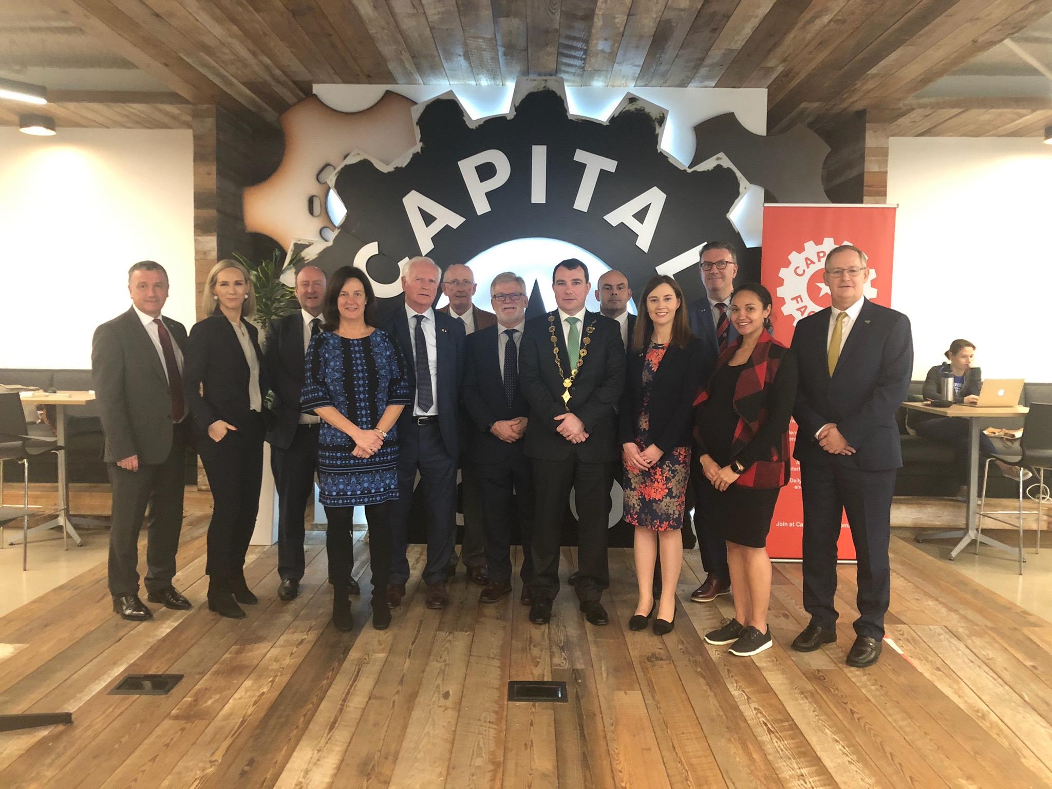 The delegation from Limerick visited Capital Factory, a meeting place for entrepreneurs, investors, business mentors and customers in Texas.