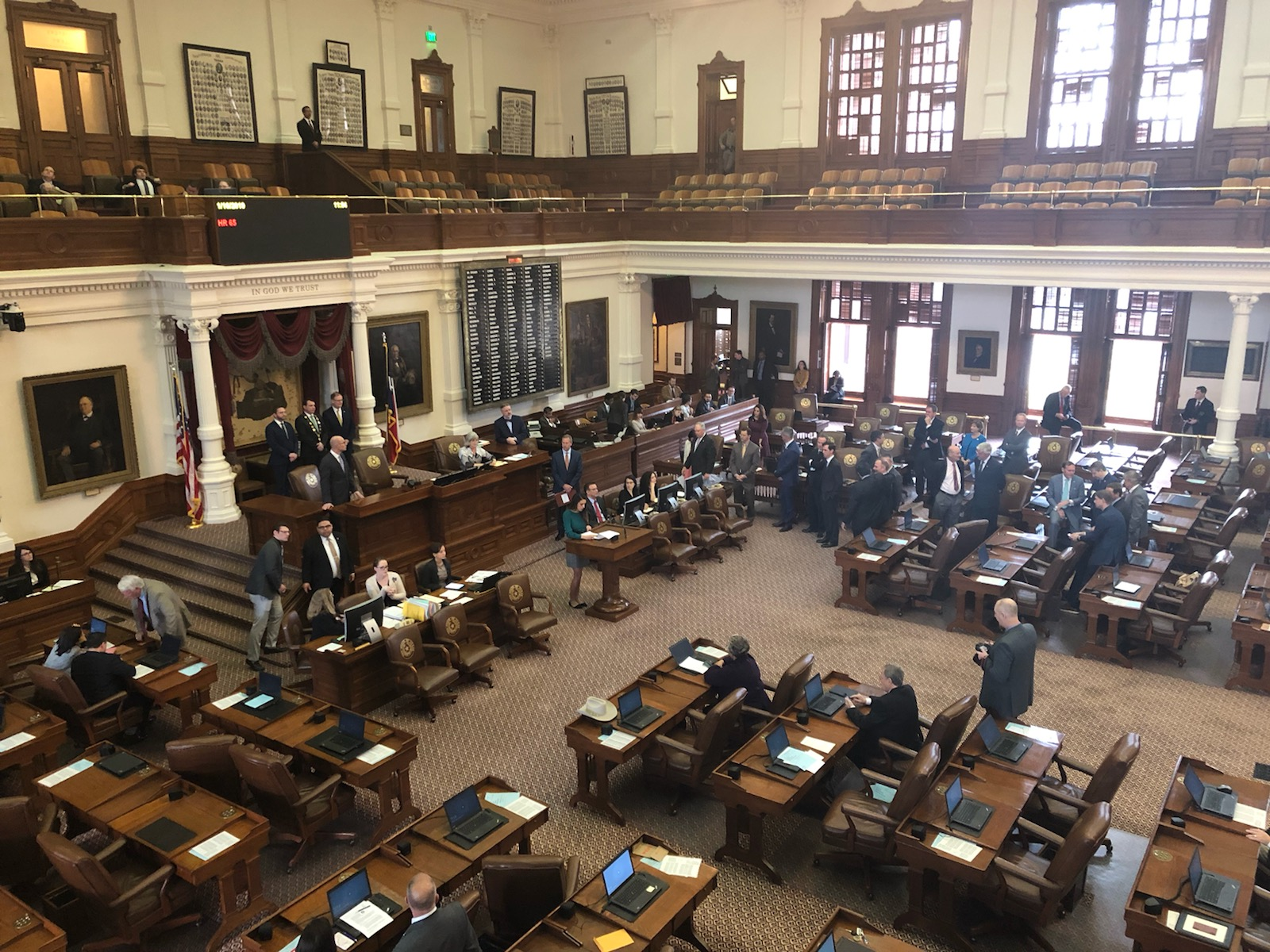 Texas House Representative Jim Murphy proposes a resolution to acknowledge the historic and economic links between Ireland and Texas on 16 January, 2019.