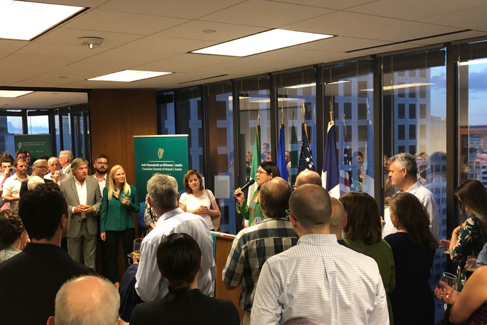 Irish community reception to mark arrival of the new Consul General of Ireland.