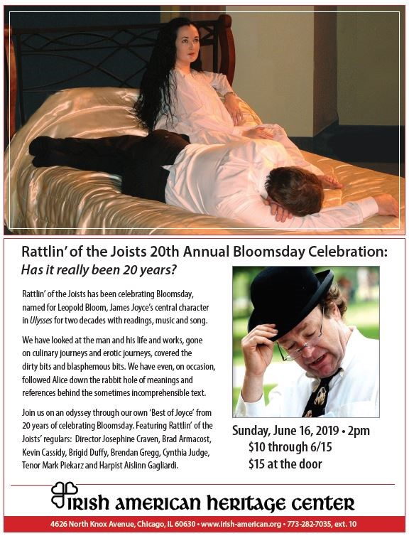 Celebrate Bloomsday on June 16th at IAHC