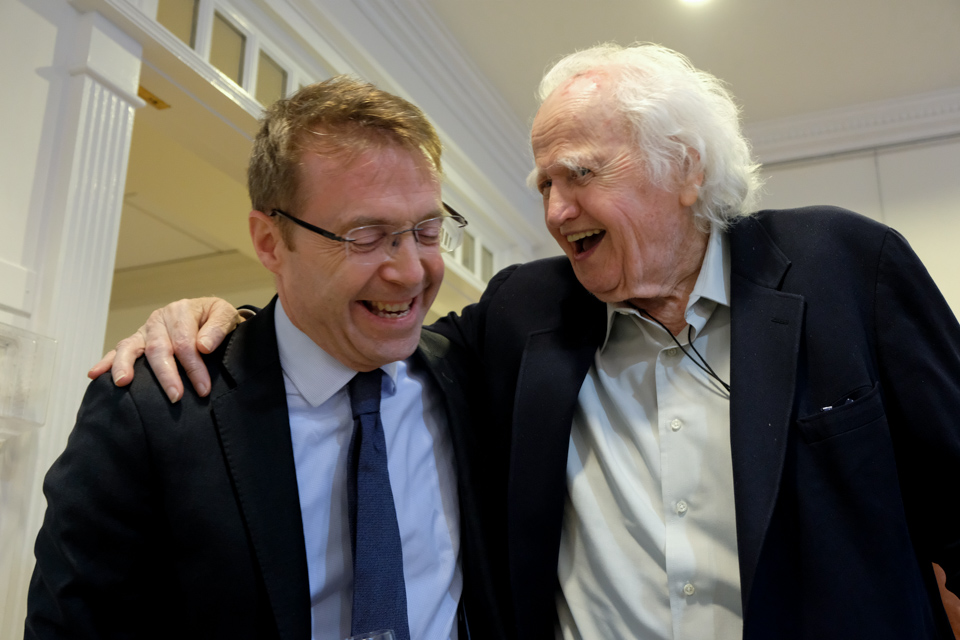 CG and Malachy McCourt - Frank McCourt Event
