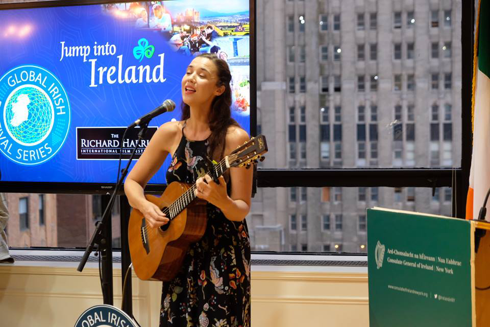 Musician Lisa Hannigan plays at Consulate event
