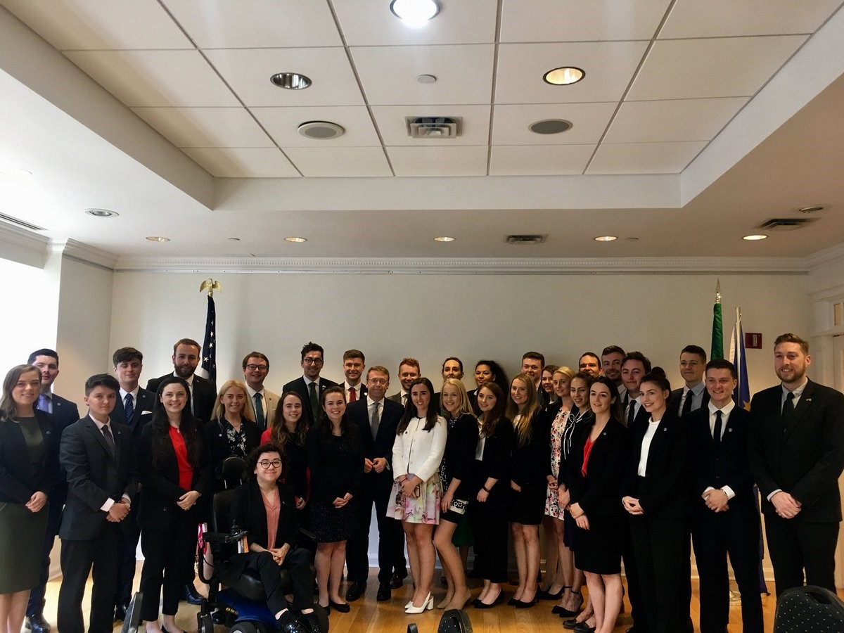 Washington Ireland Program visits the NY Consulate