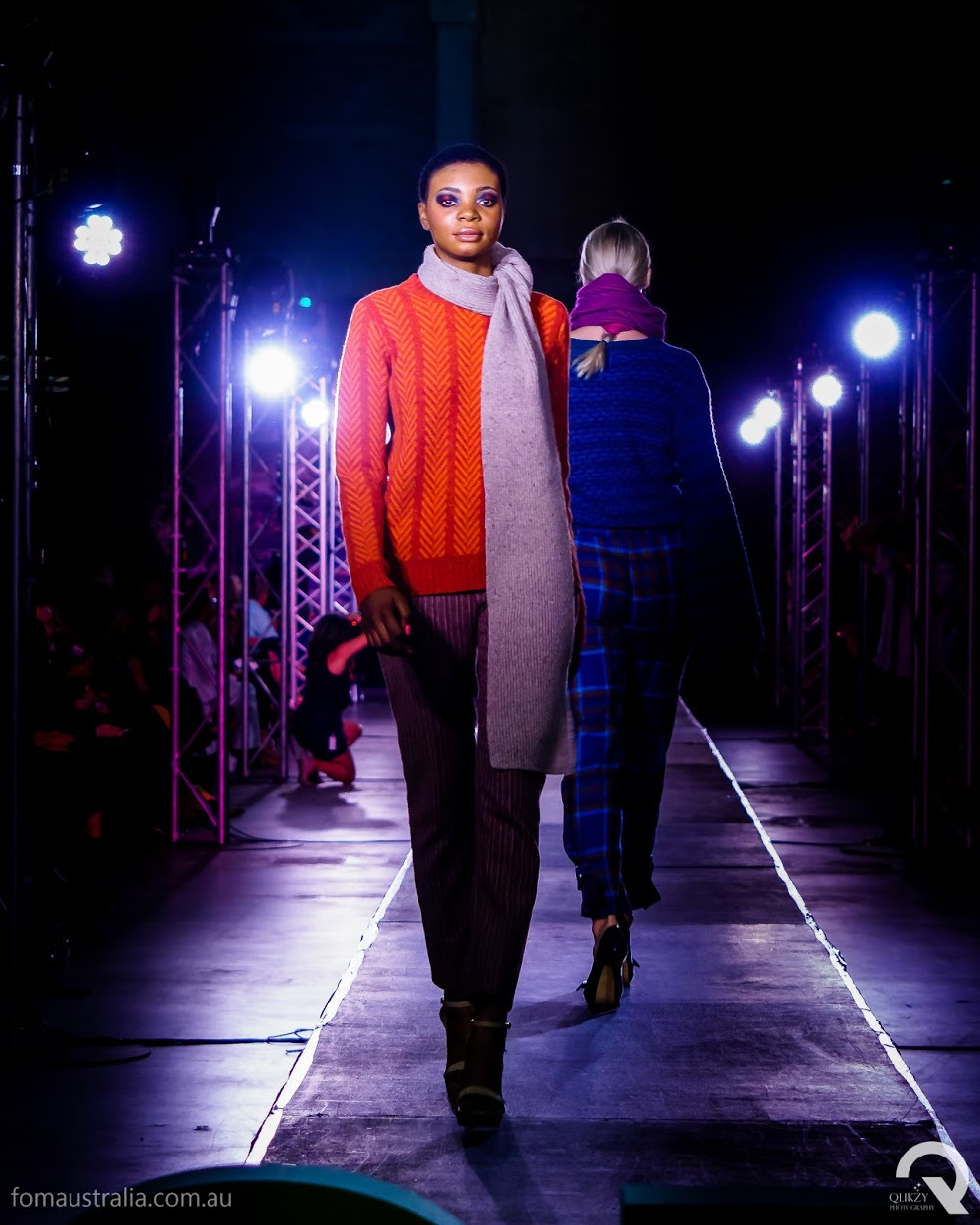 Anne McConnell's knitwear on the runway at FOMA 2019