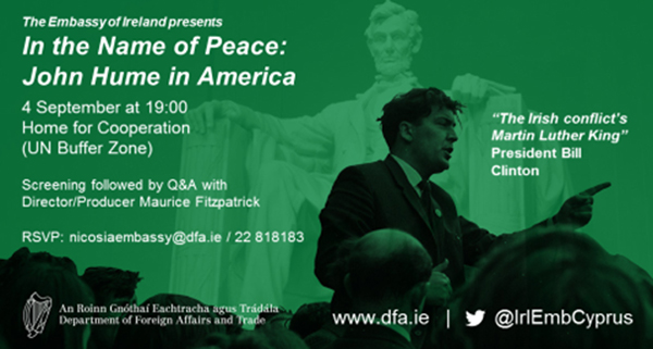 Screening of In the Name of Peace: John Hume in America