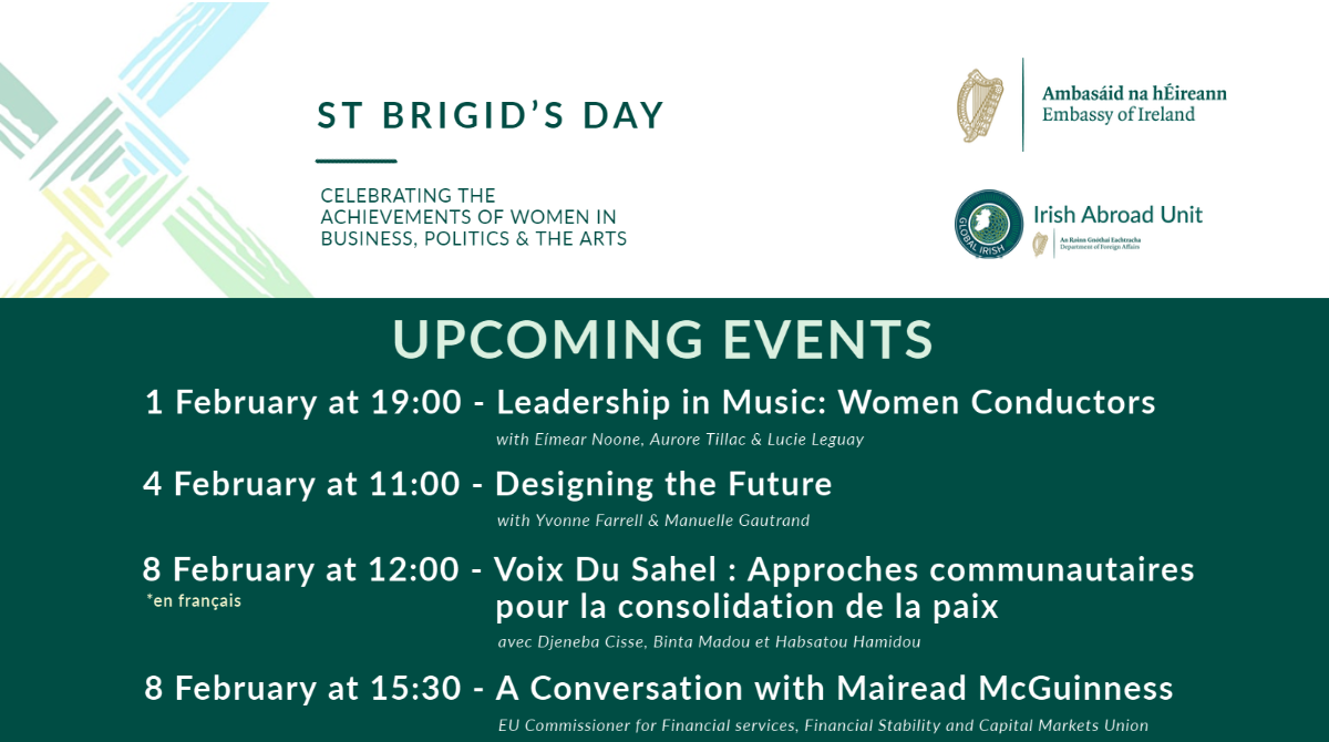 St. Brigid's Day 2021 - Programme of Events