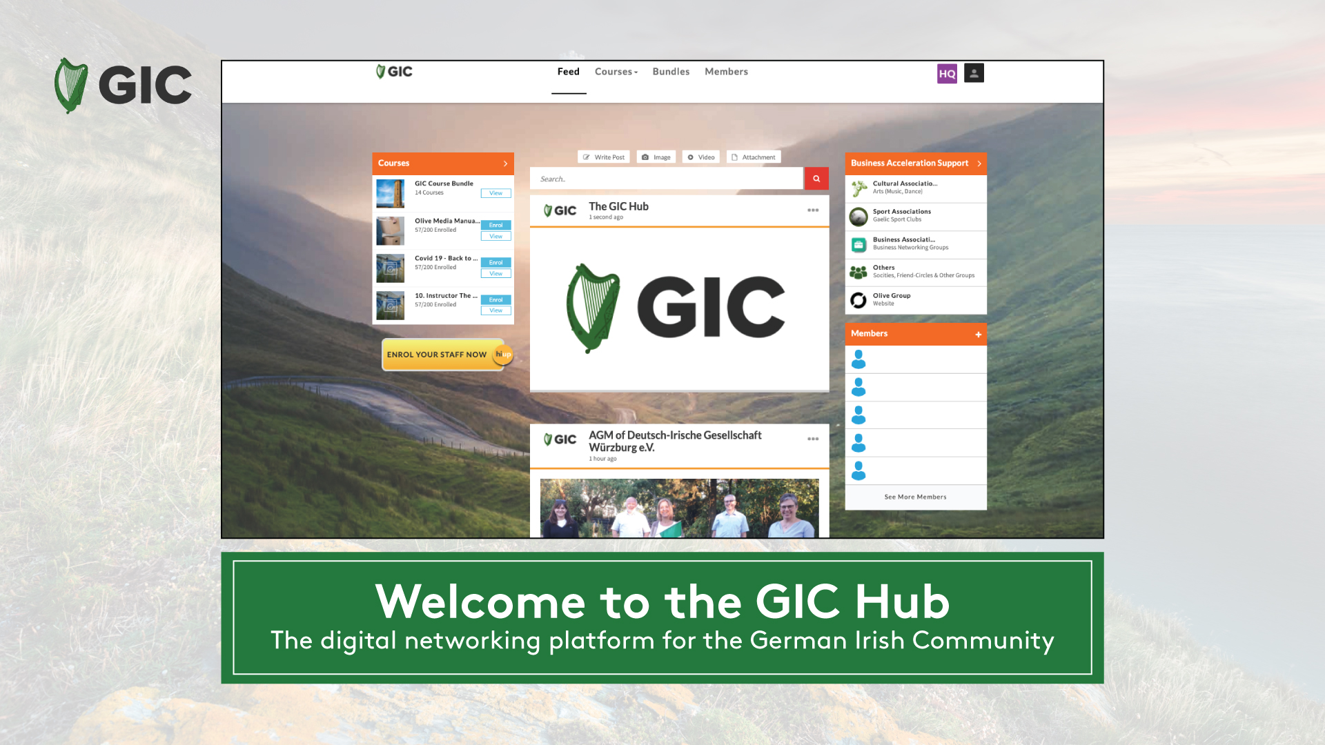 Launch of the German Irish Council Hub