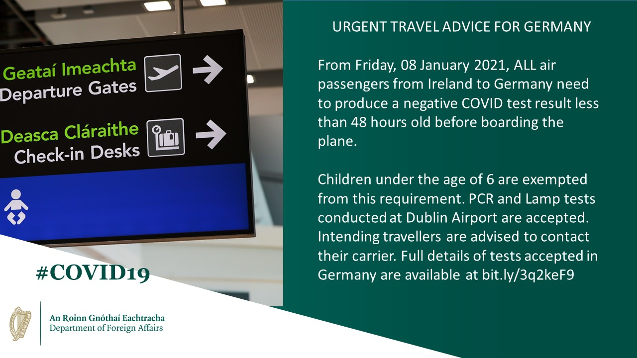 Travel advisory update - January 2021