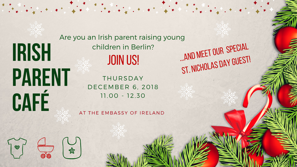 Irish Parent Café in December on the 06th December 2018