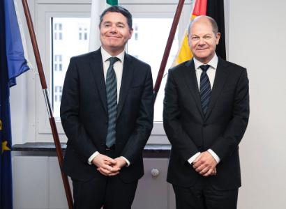 Minister Donohoe meets Scholz NOvember 2019