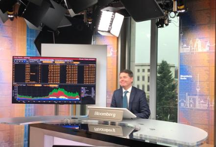Minister Donohoe in Bloomberg studios