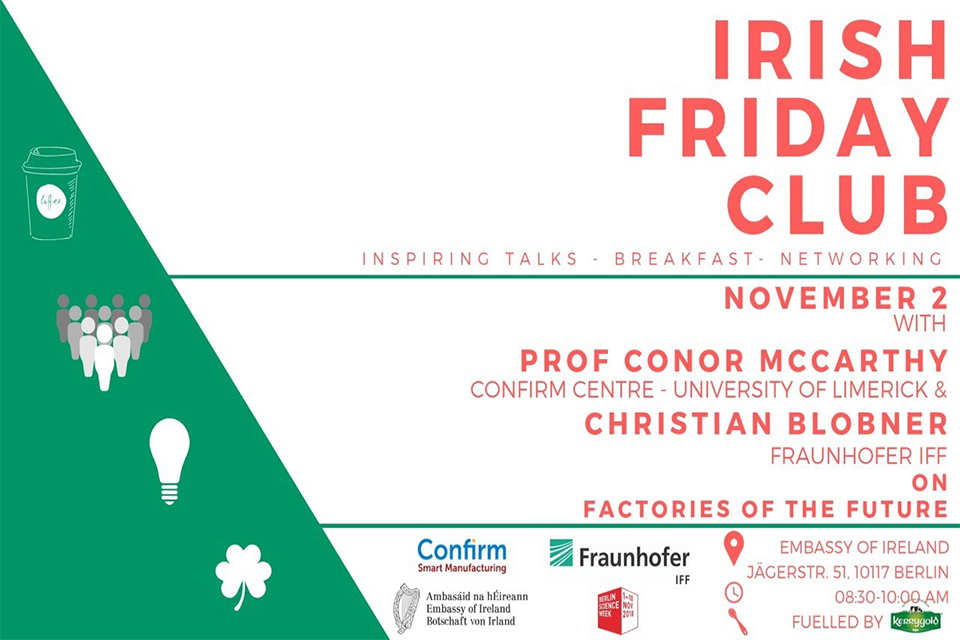 Irish Friday Club - Factories of the Future - Special for Berlin Science Week
