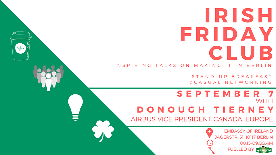 Irish Friday Club with Donough Tierney from Airbus 7 September