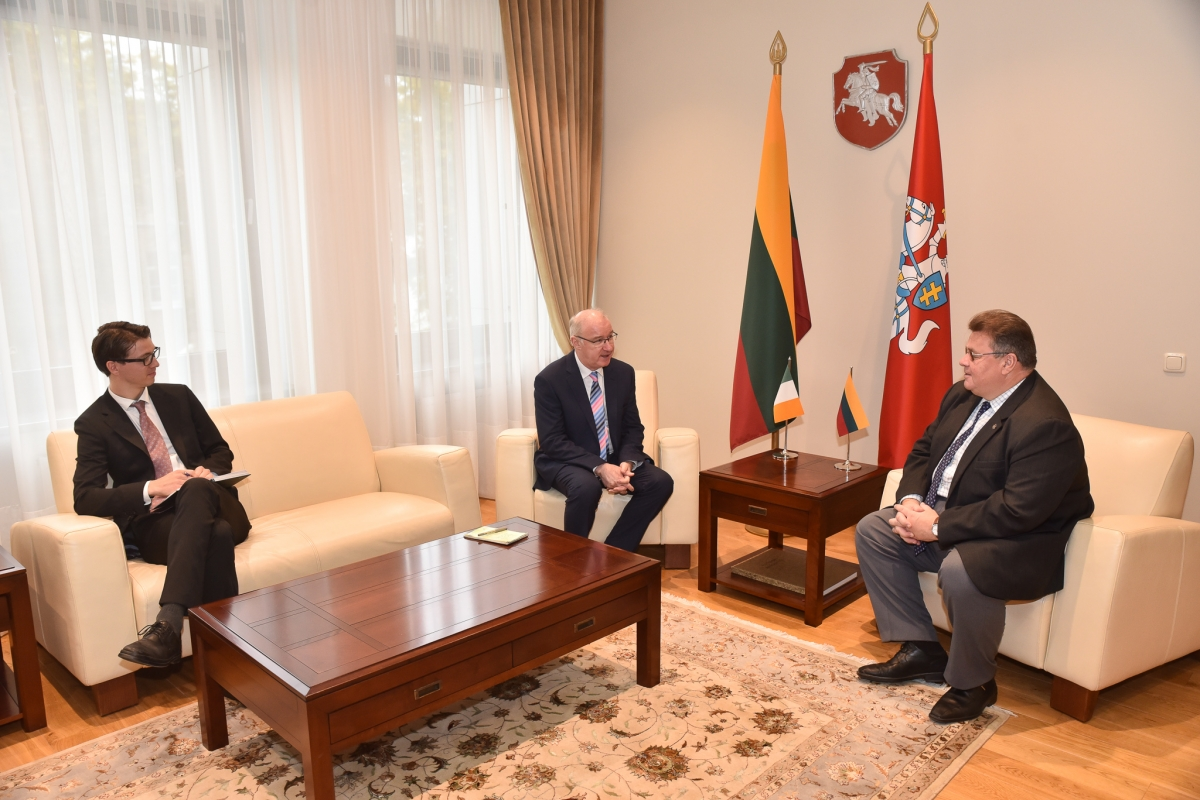 The Ambassador was received by the Lithuanian Foreign Minister