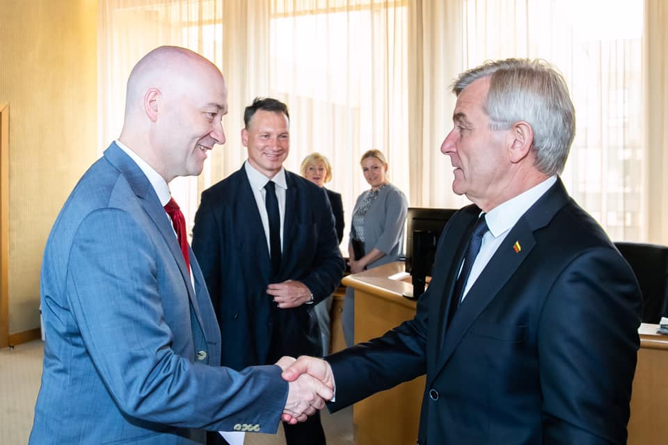 Farewell call on the Parliament of the Republic of Lithuania Speaker Viktoras Pranckietis