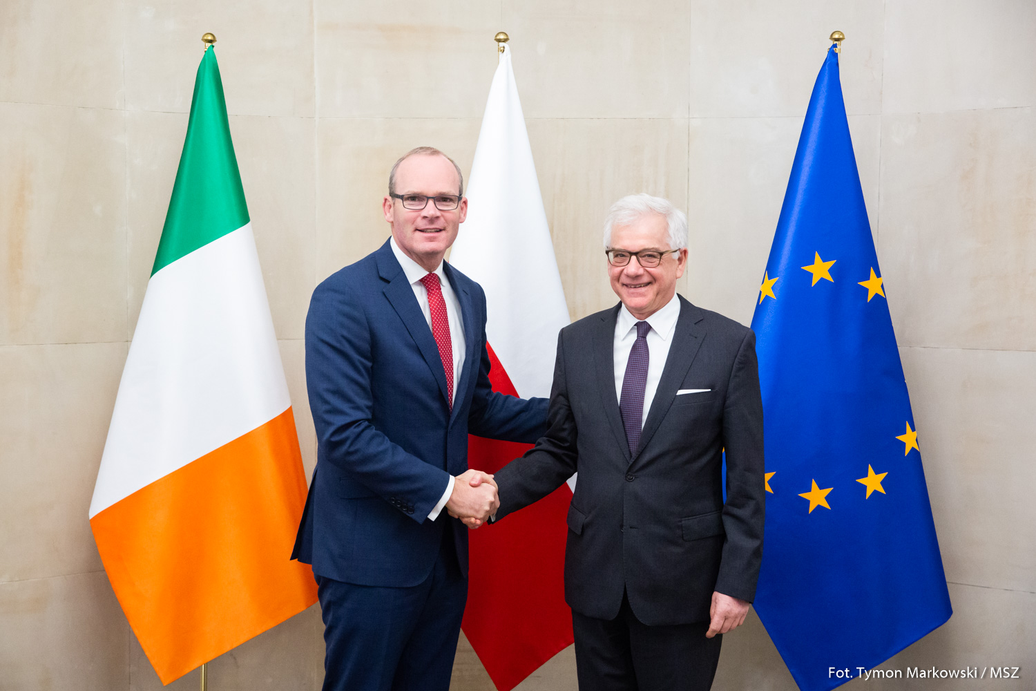 Visit to Warsaw of Ireland's Deputy Prime Minister and Foreign Minister, Simon Coveney