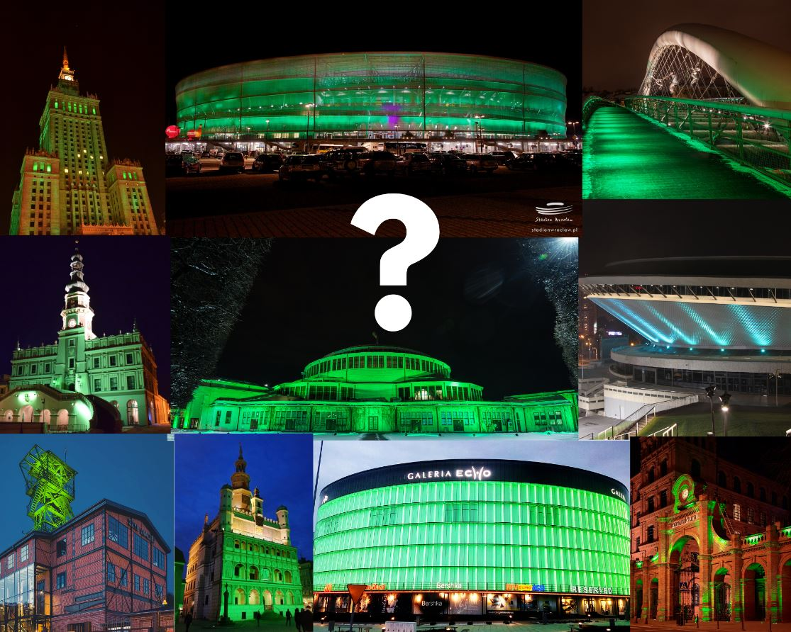 St. Patrick's Day in Poland: Cities and Towns turning Green!