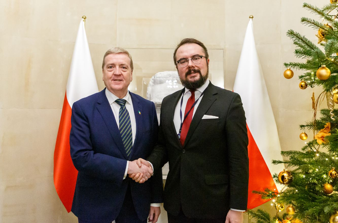 Minister Pat Breen on a visit to Warsaw