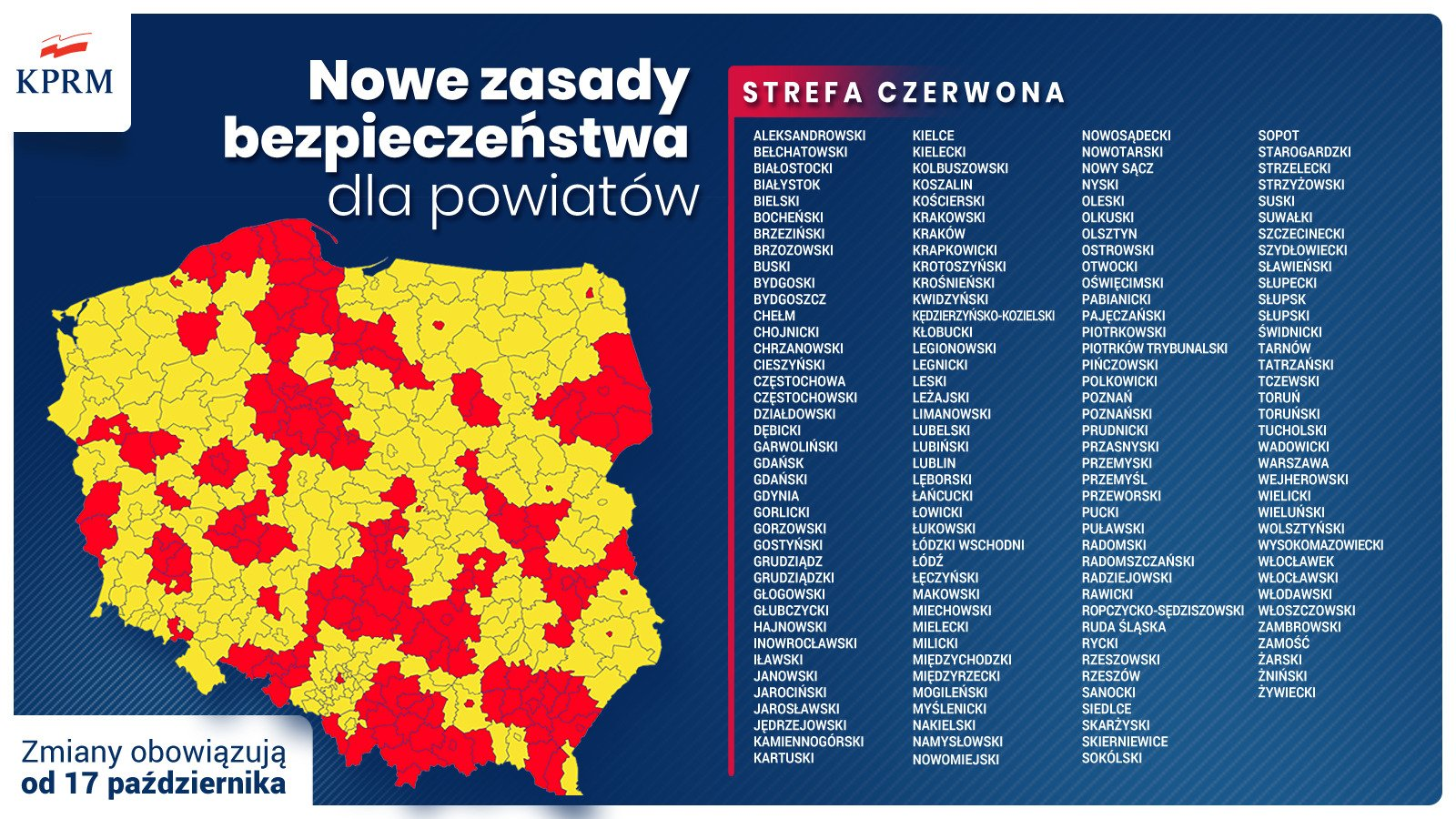 Covid-19 measures in Poland from 17 October