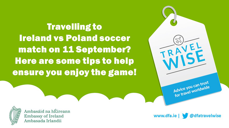 Travel Advice Ireland vs Poland match Wroclaw 11 September