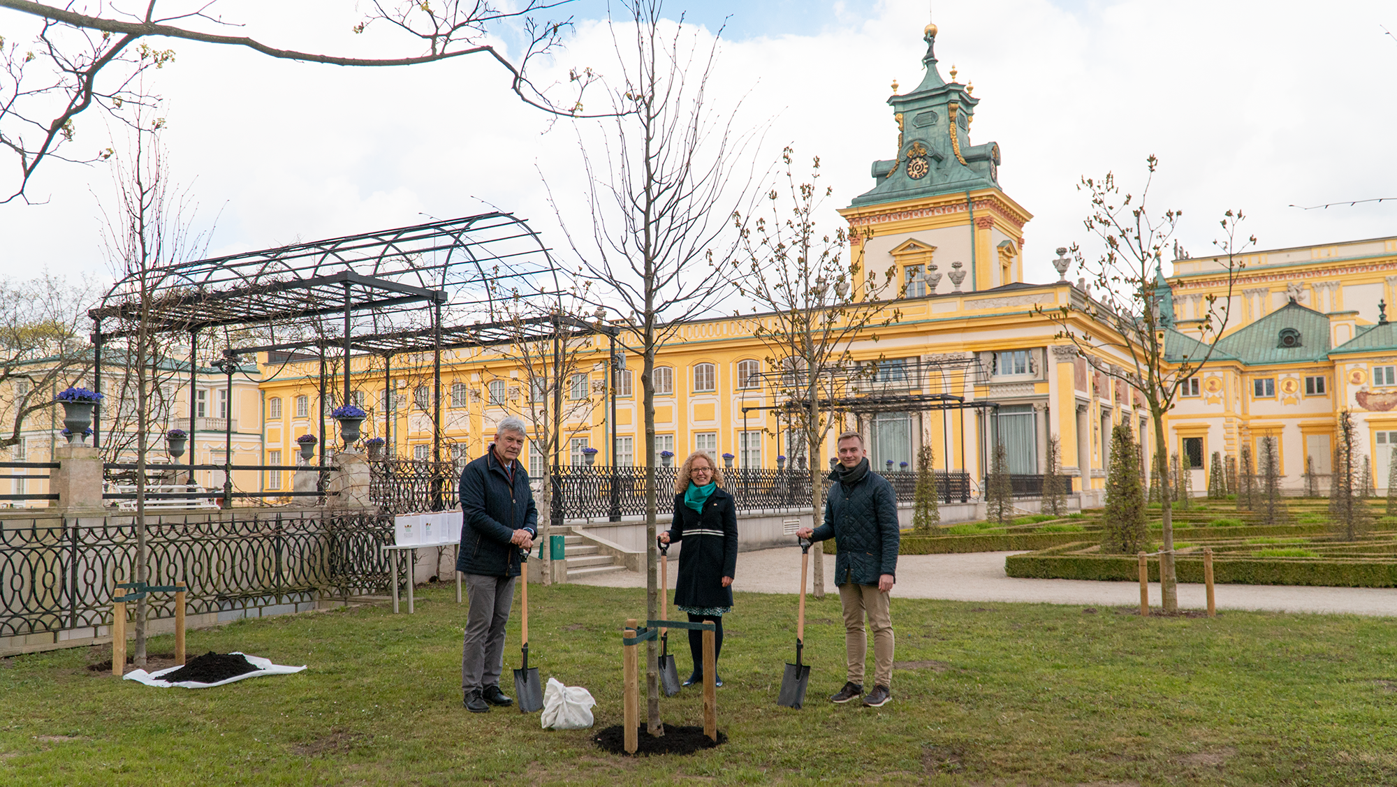 Tree Planting at Wilanów Palace Gardens, 26 April
