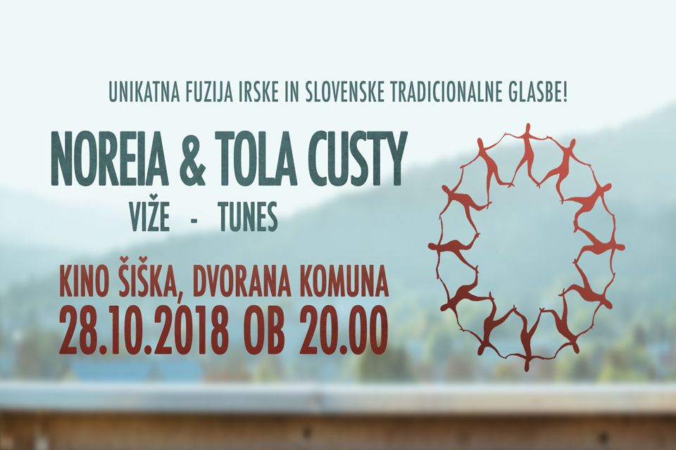 Tola Custy performing with Noreia in Ljubljana on 28 October