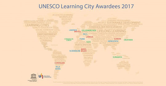 City of Limerick awarded prestigious UNESCO Learning City Award 2017