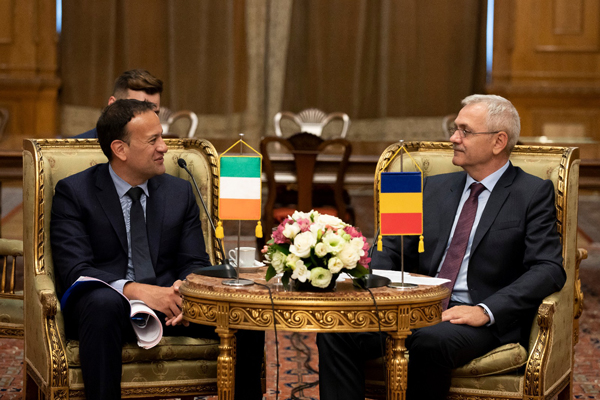 Taoiseach Leo Varadkar visited Bucharest on 24 July 2018