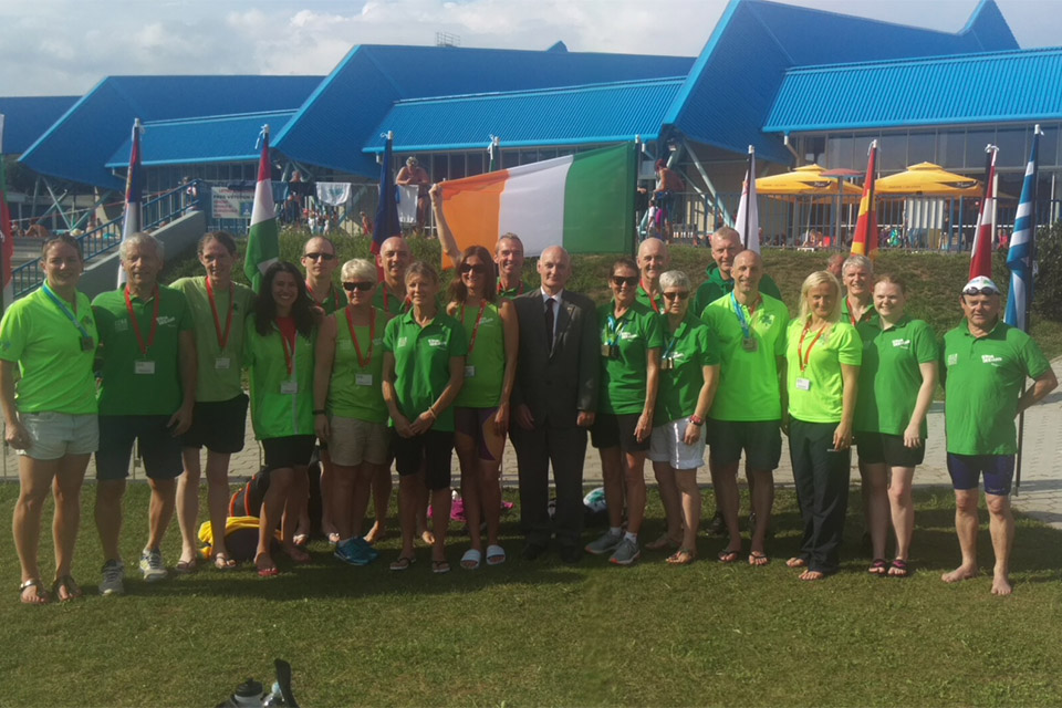 Irish athletes competing in Slovenia