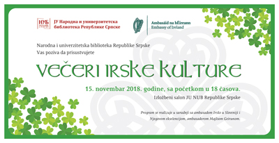 Irish event in Banja Luka on 15 November