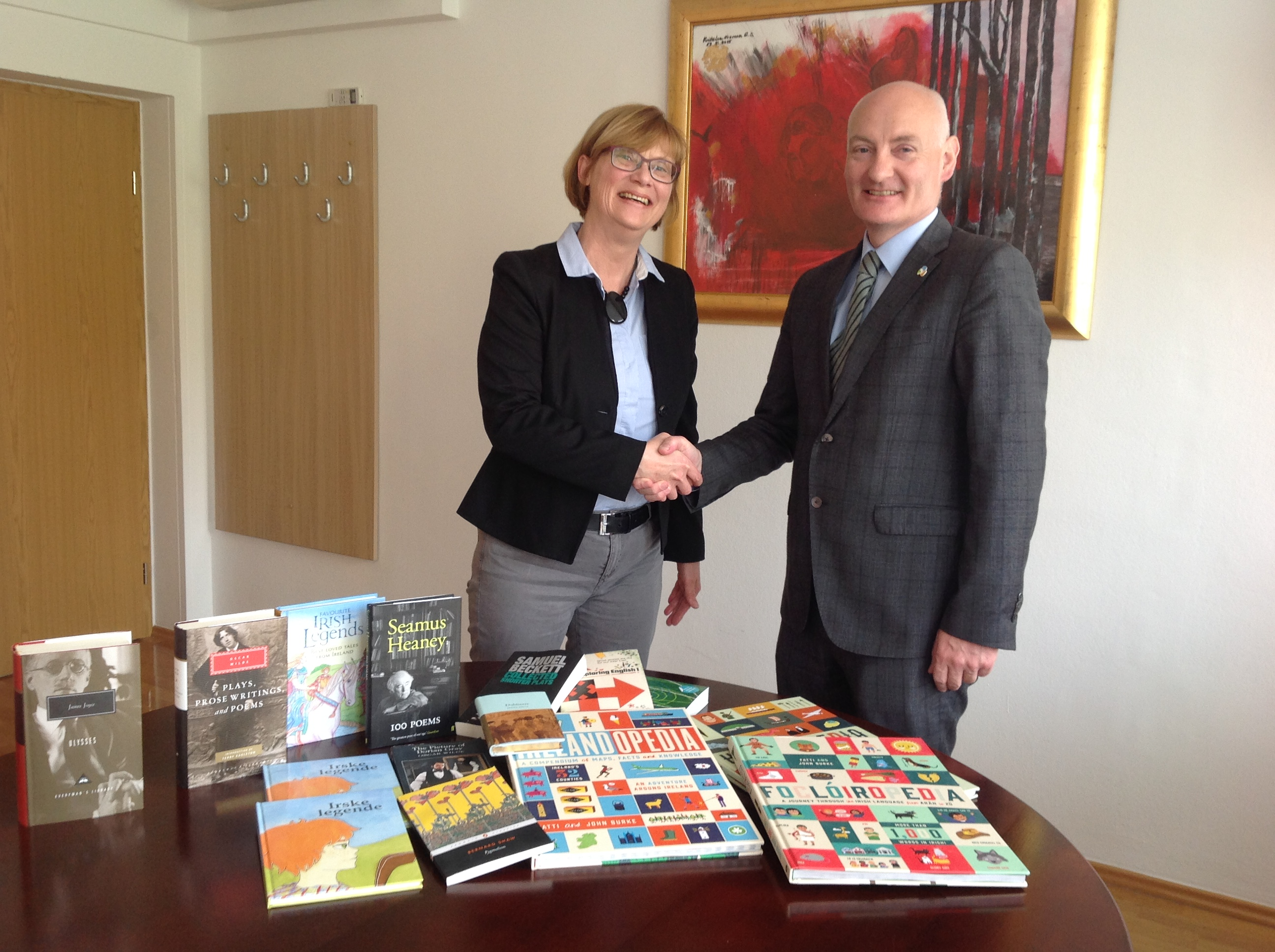 Sections dedicated to Ireland established in a number of city libraries in Slovenia and BiH