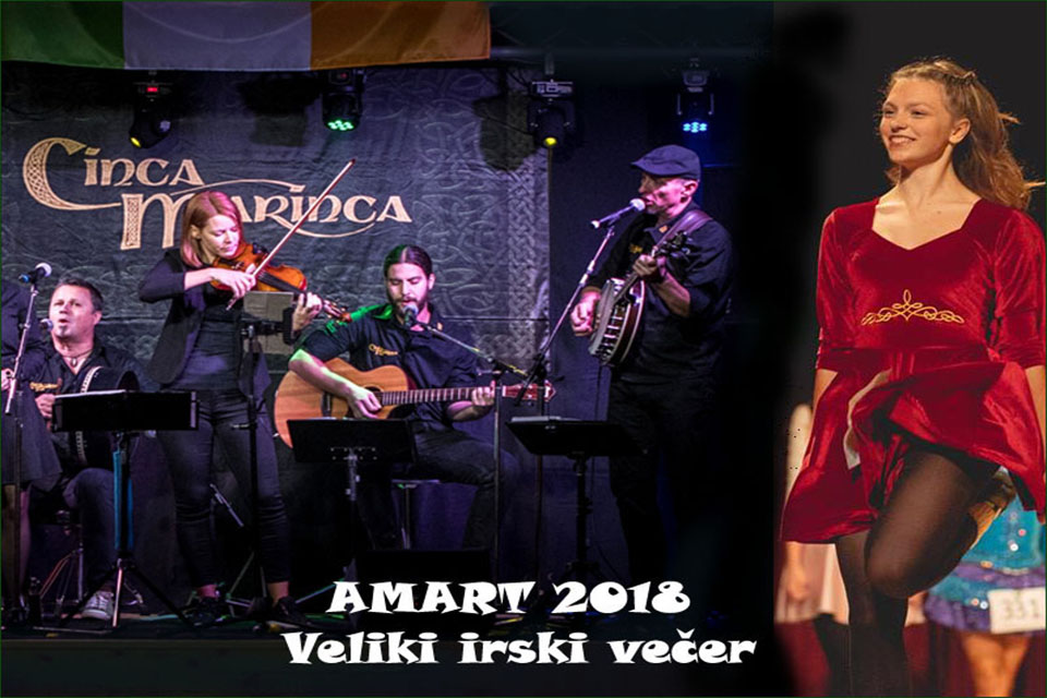 Local performers showcasing Irish culture in Radomlje on 17 November