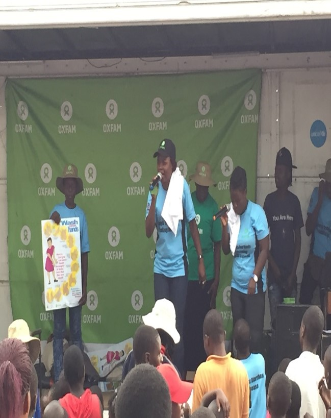 Edutainment by UNICEF/Oxfam to increase cholera awareness