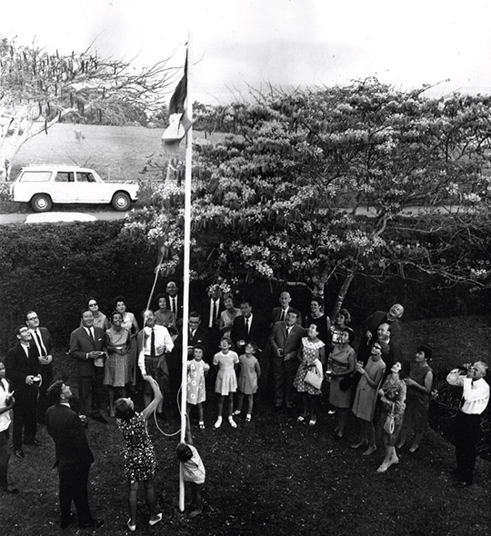 Flag raising ceremony of First Honorary Consul,  Embassy of Ireland Tanzania