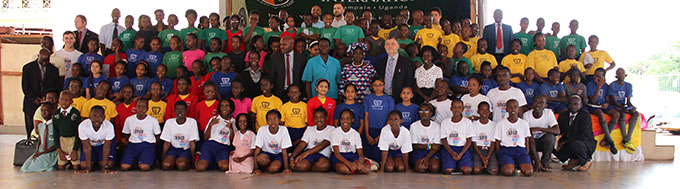 Africa Code Week 2017 was today launched at Lohana Academy, in Kampala, by Ambassador Finbar O'Brien