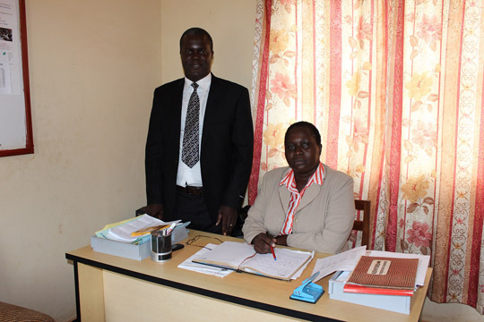 Dan Bubale with the District Education Officer