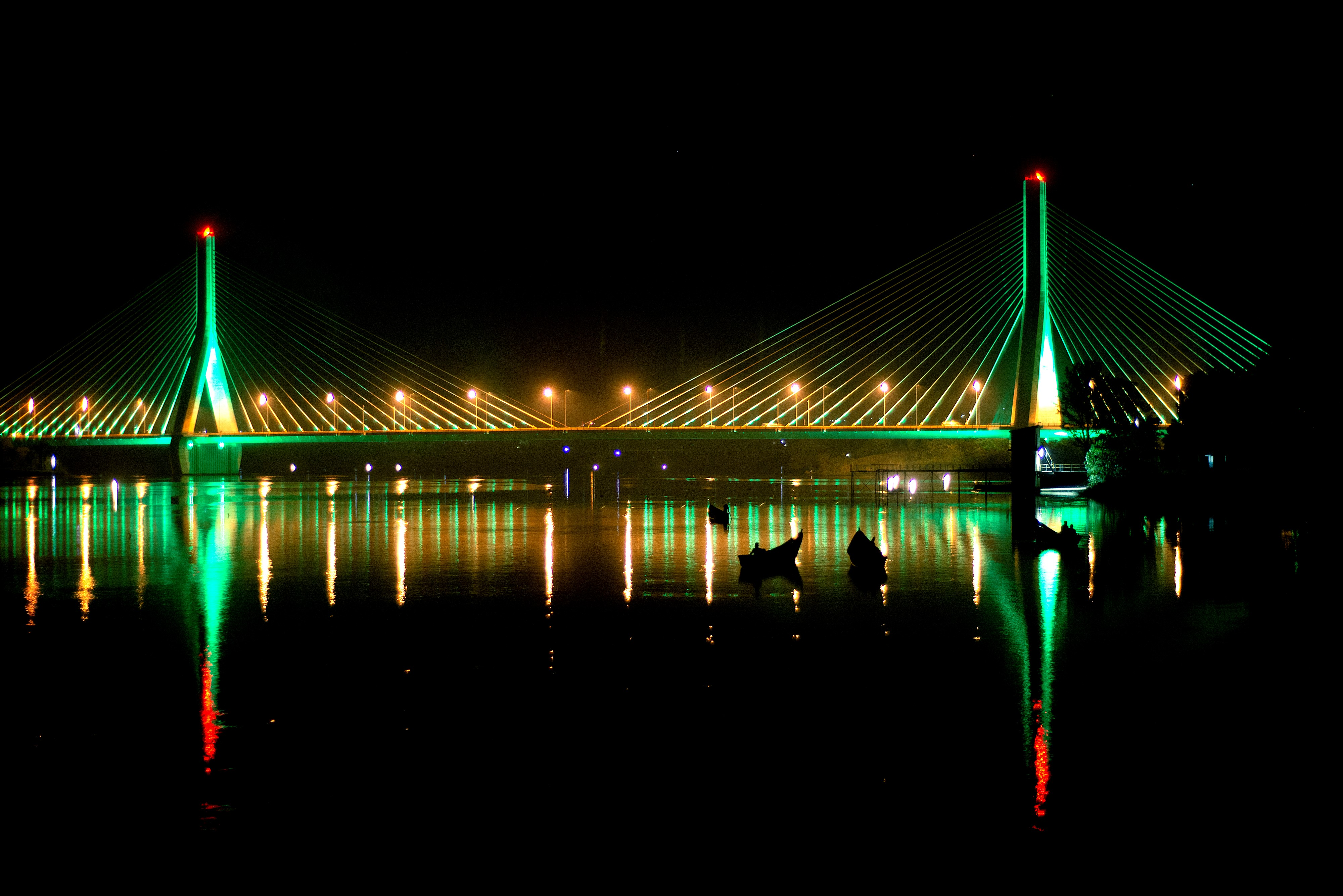 Source of the Nile Bridge goes green for St Patrick's Day