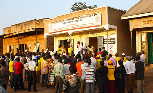 Election meeting in Uganda