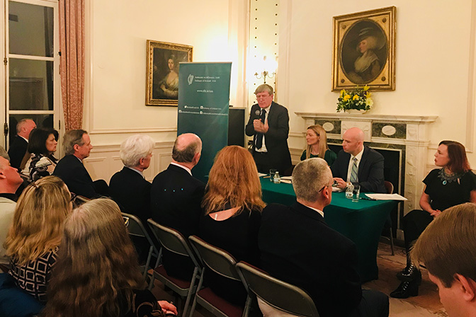 Panel discussion & Podcast at Embassy of Ireland on Dáil100