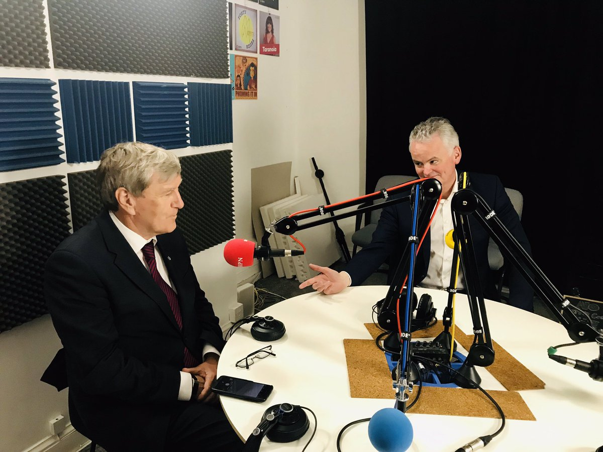 Ambassador Dan Mulhall and Mark Redmond - record a podcast