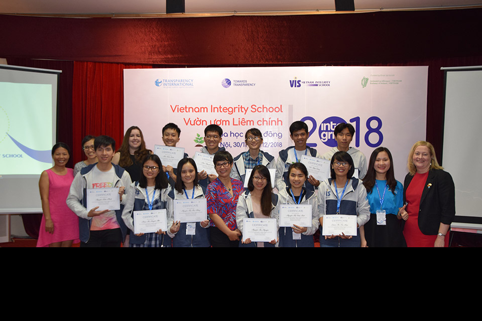 Ireland supports Vietnam Integrity School 2018