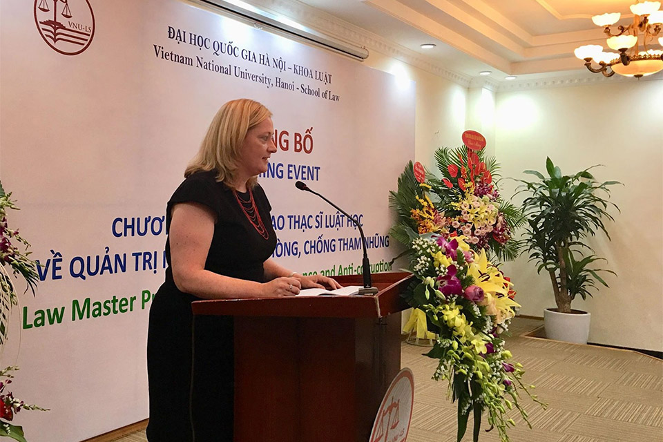 Ireland supports the first Masters' in Law on State Governance and Anti-corruption at VNU Hanoi