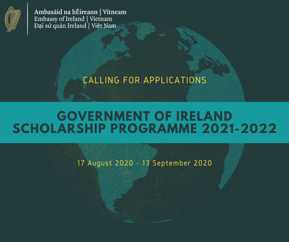 The Government of Ireland Scholarship programme 2021-2022